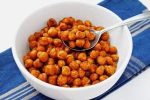 bakes chickpeas are a great snack to have to avoid eating more tempting foods at work